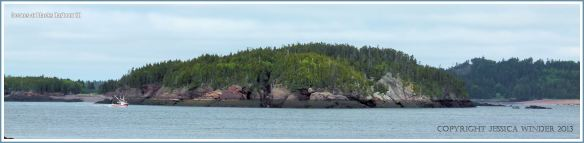 Bay of Fundy shoreline with wide inter-tidal zone