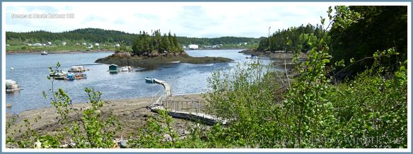 View of the inner harbour area at Blacks Harbour