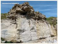 Quarried cliff face on the Isle of Portland