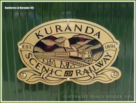 Sign for the historic Kuranda Scenic Railway