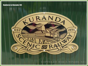 Sign for the historic Kuranda Scenic Railway