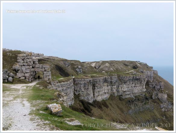 The coast path at West Cliff on the Isle of Portland