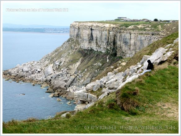 View from the cliff-top coastal path on the west coast of the Isle of Portland