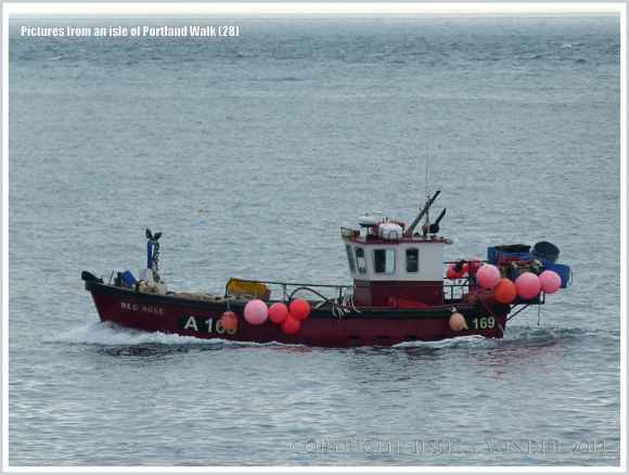 Fishing boat off Portland Bill, Dorset, U.K.