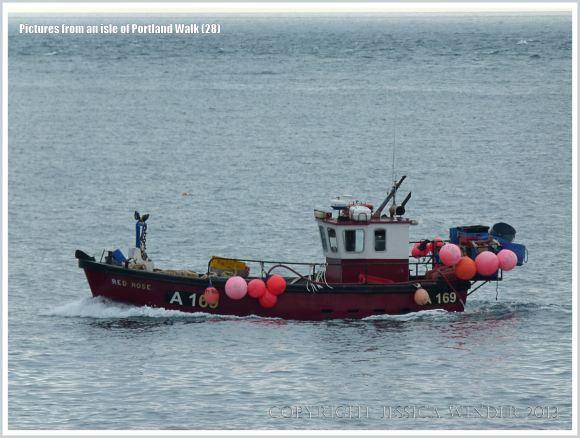 Fishing boat off Portland Bill, Dorset, U.K.
