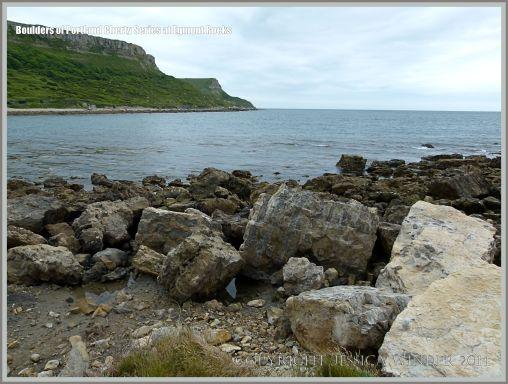 Beach boulders at Egmont Rocks near Chapmans Pool