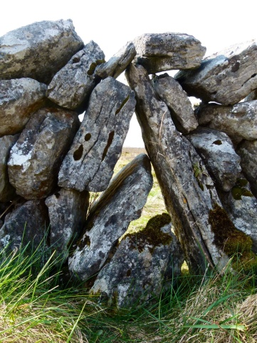 Detail of old stone wall on The Burren