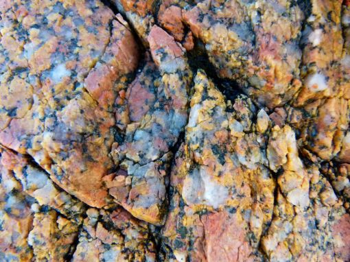 Close- up of the pattern in granite at Dogs Bay
