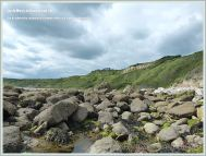 Boulders beneath White Nothe at Ringstead Bay