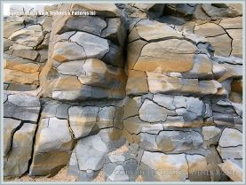 Natural pattern, colour, and texture in a clay outcrop