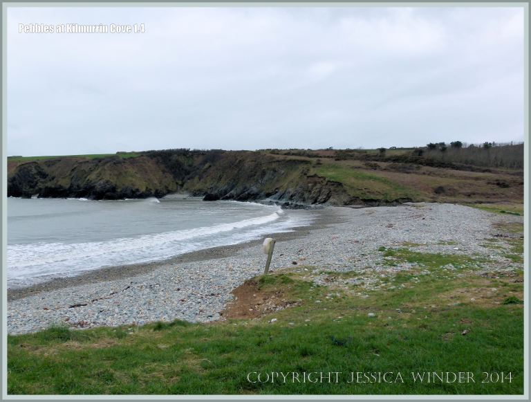 View of a pebble beach on a Copper Coast in Southern Ireland
