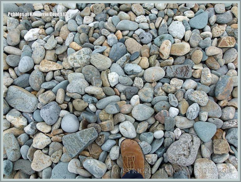 Dry beach stones on the Copper Coast in Ireland