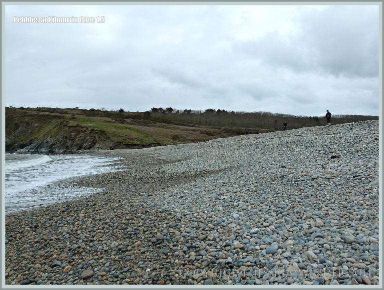 Pebble bank on the shore at Kilmurrin Cove