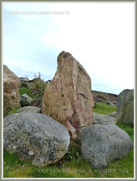 Boulders of rhyolite rock in Bunmahon Geological Garden