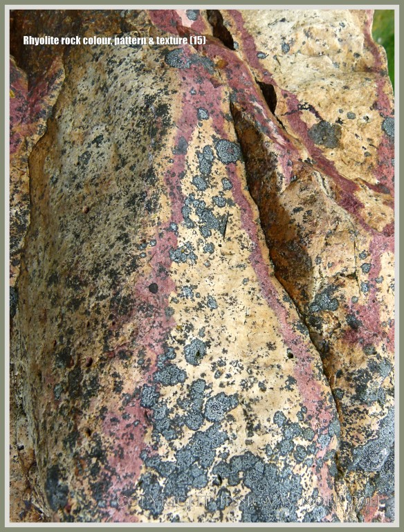 Abstract pattern in rhyolite rock