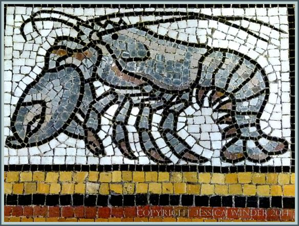 Mosaic of a lobster