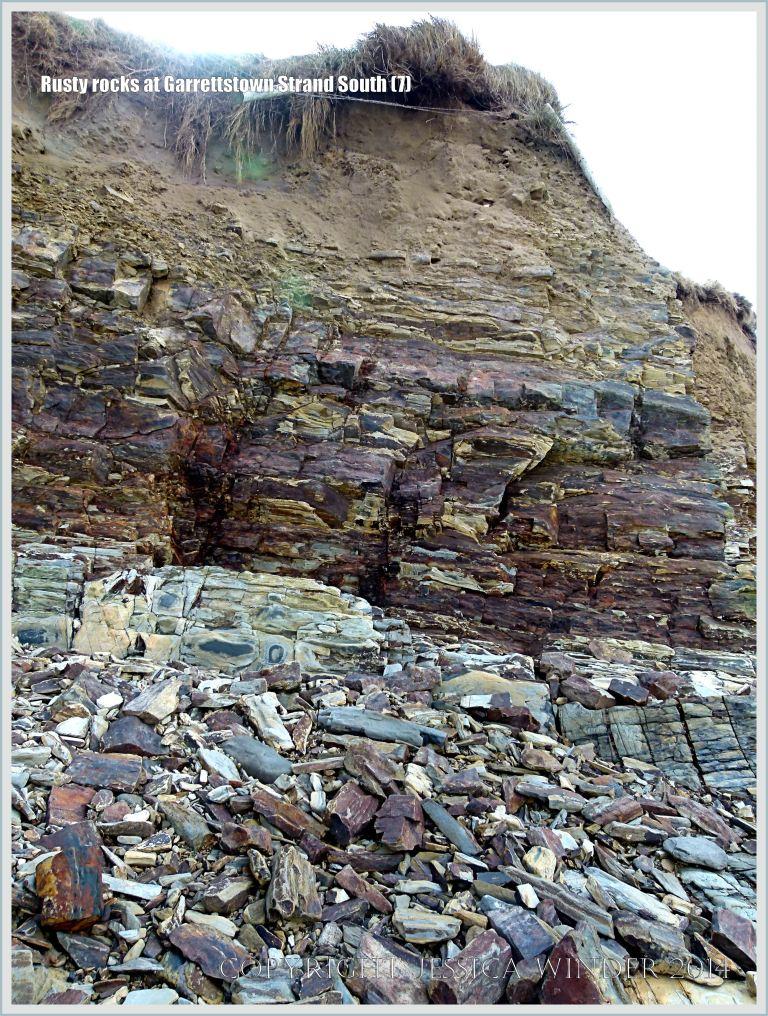 Cliff of Cork Group Carboniferous rocks
