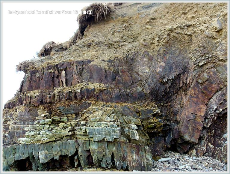 Cliff face at the southern end of Garrettstown Strand