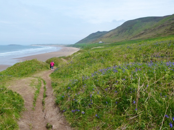 An alternative path to the beach at Rhossili