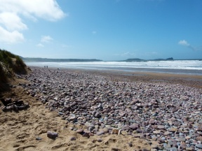 Pebbles on the beach at Rhossili