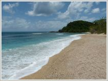 Beach view on tropical Normanby Island