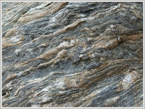 Close up of rock on Normanby Island