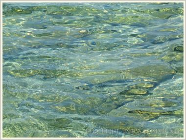 Pattern and texture in shallow lapping water on Normanby Island