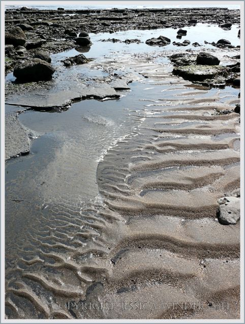 Sand ripples at Monmouth Beach in Lyme Bay