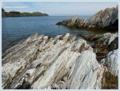 Jagged rocks at Pettes Cove on Grand Manan