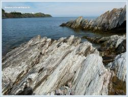 Jagged rocks at Pettes Cove on Grand Manan