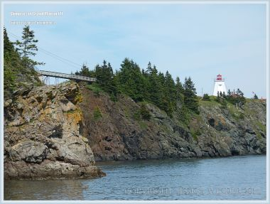 View of the footbridge to Swallow Tail Lighthouse on Grand Manan
