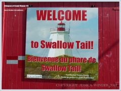 Sign for the Swallow Tail Lighthouse on Grand Manan