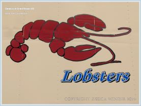 Lobster sign on side of van on Grand Manan
