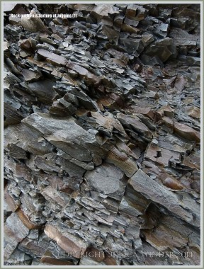 Fracture patterns in rock strata