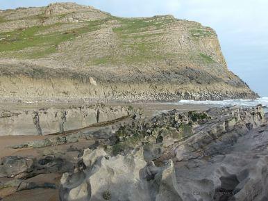 Naturally sculptured limestone rocks at Mewslade Bay