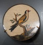 Plaque with goldfinch in micro-mosaic made in the last quarter of the 19th century in Rome