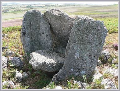 An aspect of Sweyne's Howse ancient burial cahamber on Rhossili Down