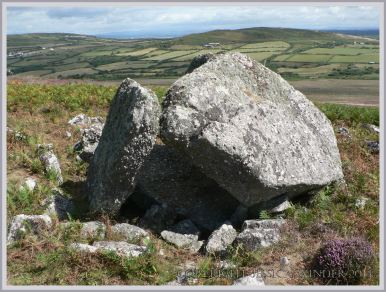 Neolithic tomb made of Old Red Sandstone conglomerate