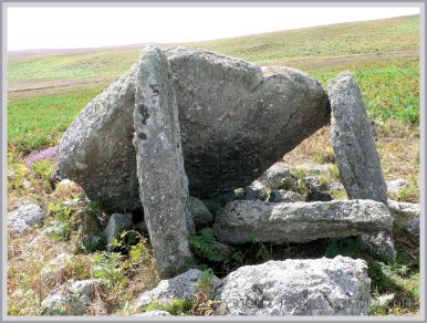 An aspect of Sweyne's Howse Neolithic chambered tomb on Rhossili Down