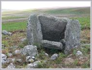 Tomb on Rhossili Down made by people who cleared the land in the neolithic and left many of their tools for us to find