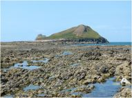 View from the centre of the Causeway towards the Worms Head