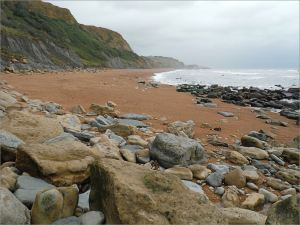View of the beach at Eype in Dorset