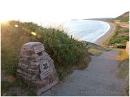 Top of the steps leading down to Rhossili
