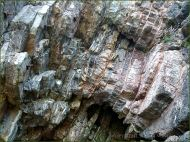 Carboniferous Caswell Bay Mudstone strata at South Beach in Tenby