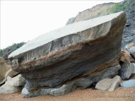 Stratification in a beach boulder