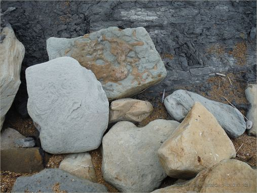 Boulders on the seashore