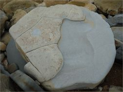 Close-up of a boulder with strange shape and pattern