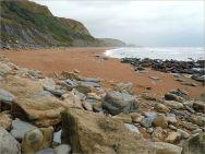 Boulders on the seashore
