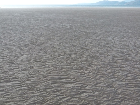 Natural sand ripple patterns