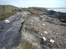 Storm damage to road at Dogs Bay